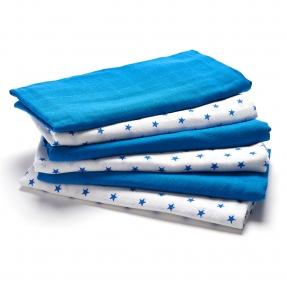 Muslin blue white 1