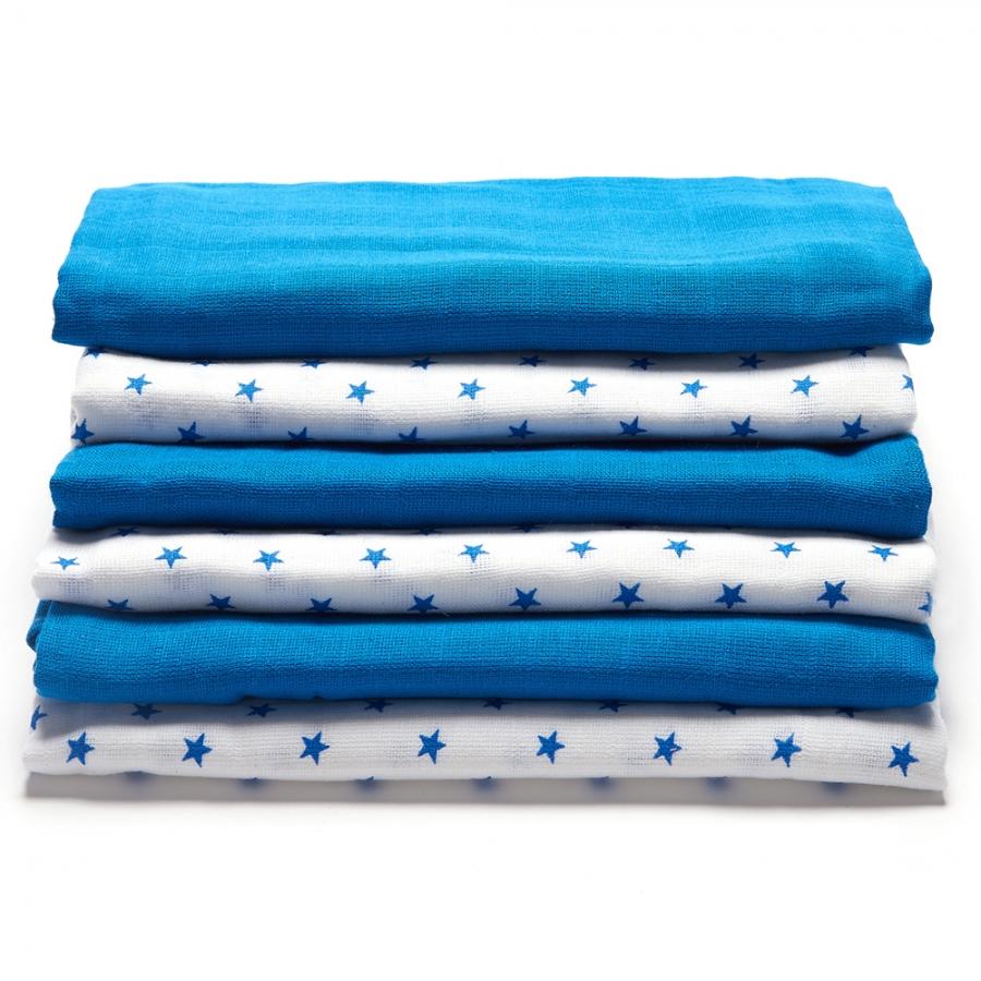 Muslin blue white 2