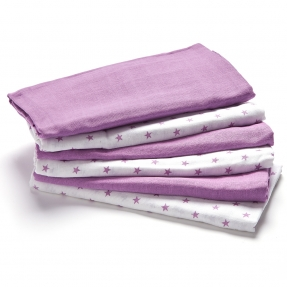 Muslin white purple 1