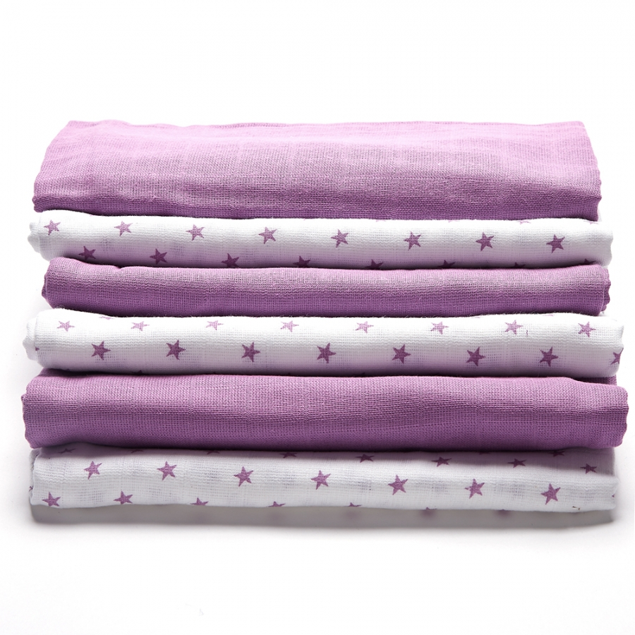 Muslin white purple 2